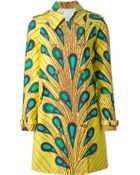 Stella Jean 'Balena' Print Trench Coat - Lyst
