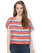 Lauren by Ralph Lauren Southwestern Linen Shirt - Lyst