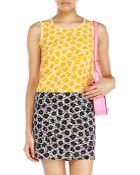 Love Moschino Silk Mix Floral Dress With Black Contrast Skirt - Lyst