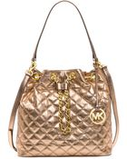 MICHAEL Michael Kors Frankie Quilted Leather Convertible Bag - Lyst
