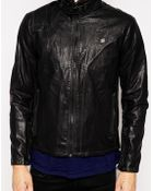 G-Star RAW G Star Biker Jackets Forc Across Faux Leather - Lyst