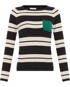 Chinti & Parker Snug Stripe Sweater With Pocket - Lyst