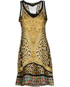 Roberto Cavalli Short Dress - Lyst