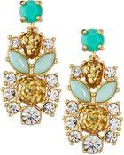 Kate Spade Glitter Statement Earrings - Lyst