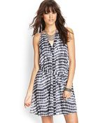 Forever 21 Tie-Dye Fit & Flare Dress - Lyst