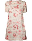 Band of Outsiders Shirt Toile Print Dress - Lyst