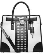 MICHAEL Michael Kors Hamilton Studded Leather Large North South Tote Bag - Lyst