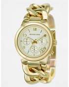 Michael Kors Ladies Gold Ionic-Plated Chain-Link Watch - Lyst