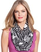 Calvin Klein Poly Chiffon Printed Infinity Loop Scarf - Lyst