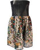 Valentino Floral Bustier Dress - Lyst