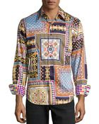 Robert Graham Isla George Baroque Poplin Sport Shirt Multi Medium - Lyst