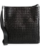 Bottega Veneta Intreccio Leather Messenger Bag - Lyst