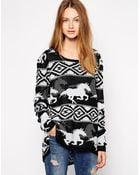 RVCA Buddy Jumper with Horse Print - Lyst