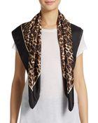 Valentino Leopard-Print Silk Scarf - Lyst