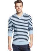Tommy Hilfiger Signature Striped V-Neck Sweater - Lyst