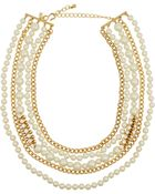 Kenneth Jay Lane Gold-Plated, Swarovski Crystal And Faux Pearl Necklace - Lyst