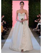 Oscar de la Renta Carmen Embroidered Silk Faille Ball Gown - Lyst