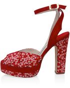 Terry De Havilland Red Daisy Mitsi Peep Toe Sandals - Lyst