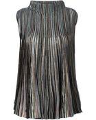 Missoni Patterned Pleated Knit Vest - Lyst