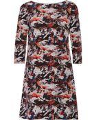 Prabal Gurung Printed Silk-Crepe Mini Dress - Lyst