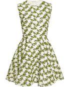 Giambattista Valli Printed Macrame-Lace Dress - Lyst