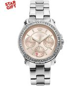 Juicy Couture Women'S Pedigree Stainless Steel Bracelet Watch 32Mm 1901104 - Lyst