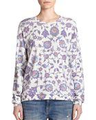 Wildfox Floral-Print Sweatshirt - Lyst