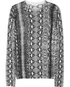 Equipment Shane Snake-Print Cashmere Sweater - Lyst