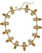 J.Crew Radiant Gold-Plated Crystal Necklace - Lyst