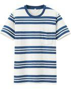 Uniqlo Men Slub Striped Crew Neck Short Sleeve T-Shirt - Lyst