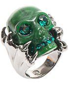 Alexander McQueen Claw Skull Ring - Lyst