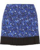 Proenza Schouler Pleated Silk-Crepe Mini Skirt - Lyst