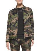 Valentino Zip-Front Camo Jacket W/ Drawstring Hem - Lyst