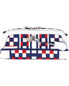Alexander McQueen Padlock Checkered Clutch - Lyst