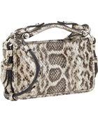 Givenchy Snakeskin Obsedia Clutch - Lyst