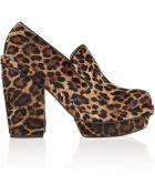 Simone Rocha Leopard-Print Calf Hair Platform Pumps - Lyst