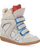 Isabel Marant Wila Suede Wedge Trainers - Lyst