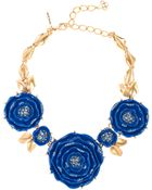 Oscar de la Renta Resin Rose Necklace - Lyst