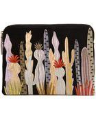Lizzie Fortunato Embroidered Cacti Clutch - Lyst