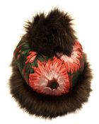 Ann-marie Faulkner Millinery Fur And Brocade Bobble Hat - Lyst