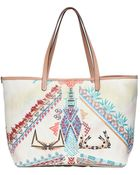 Etro Print Coated Canvas Tote Bag - Lyst