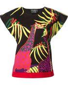 Ferragamo Giraffe Print Top - Lyst