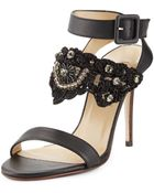 Valentino Wraparound Embellished Sandal - Lyst