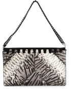 Roberto Cavalli Contrast Panel Shoulder Bag - Lyst