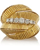 Fred Leighton 1960S 18-Karat Gold Diamond Ring - Lyst