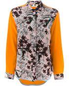 MSGM Contrast Sleeve Printed Shirt - Lyst