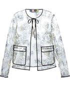 MSGM Flower Embroidered Transparent Jacket - Lyst