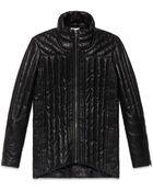 Helmut Lang Petal Leather Puff Coat - Lyst
