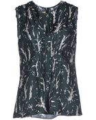 Marni Branch Silhouette Print Sleeveless Top - Lyst