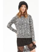 Forever 21 Marled Cable Knit Sweater - Lyst